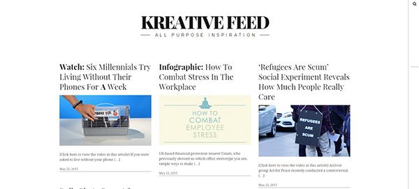 Kreative Feed: bom exemplo para entender o que é design flat