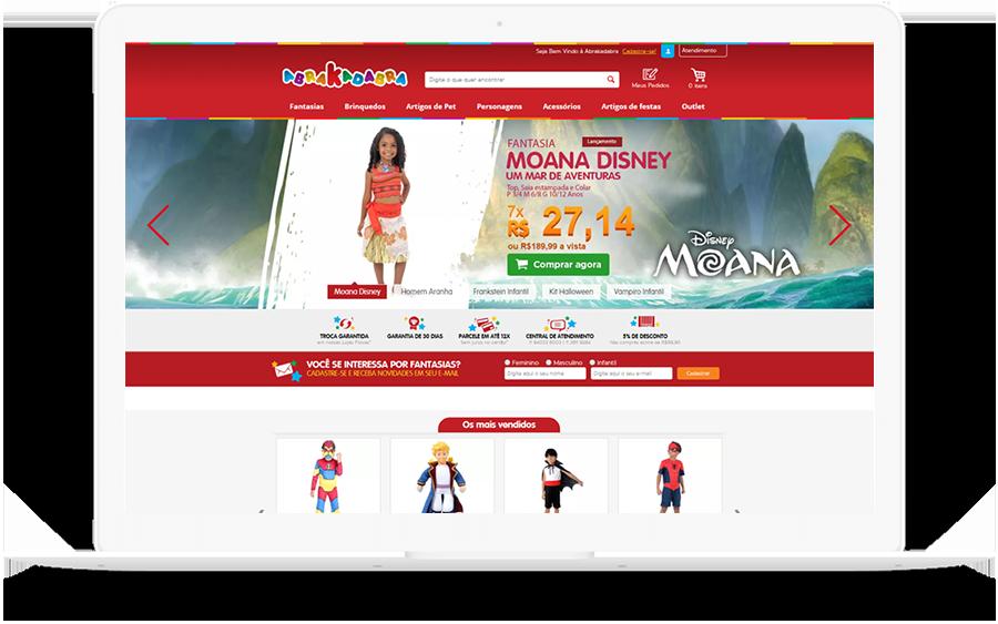 A loja de fantasias online Abrakadabra - Case de SEO da K2 Estratégia Digital