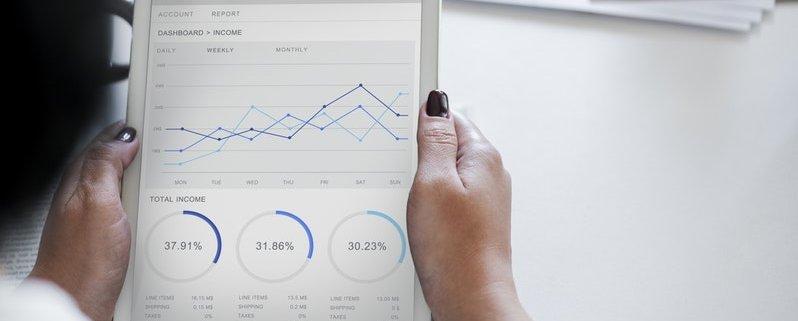 Gráfico sobre aumentar as vendas no Google com marketing de busca.